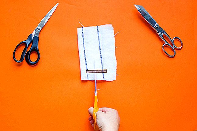 Omas Trick, um die Schere leicht zu schärfen.