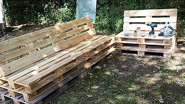 Come realizzare un arredo da giardino su ruote con pallet in legno.