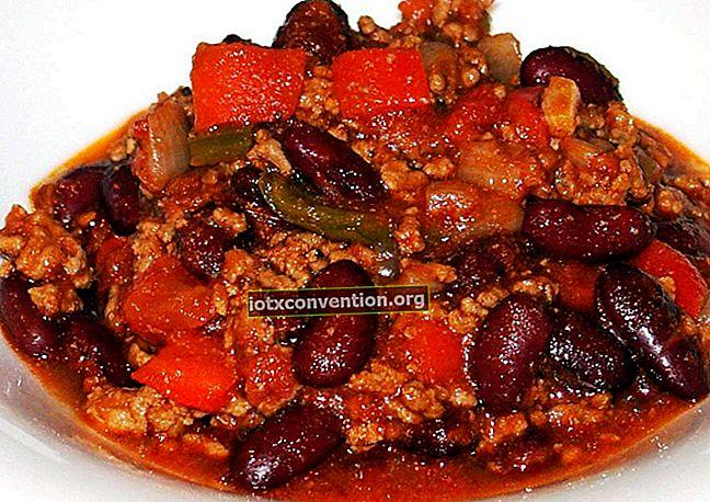 Das freundliche und erschwingliche Rezept von Chili Con Carne.