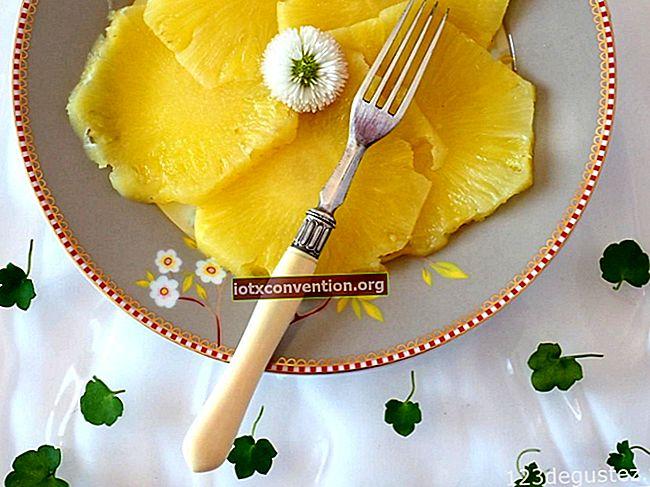 Rätt sätt att enkelt skära en ananas.